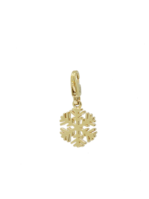 snowflake gold charm