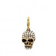 golden rustic skullhead charm
