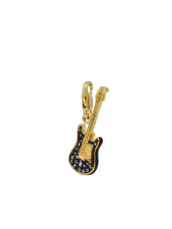 Rockstar guitar gold charm