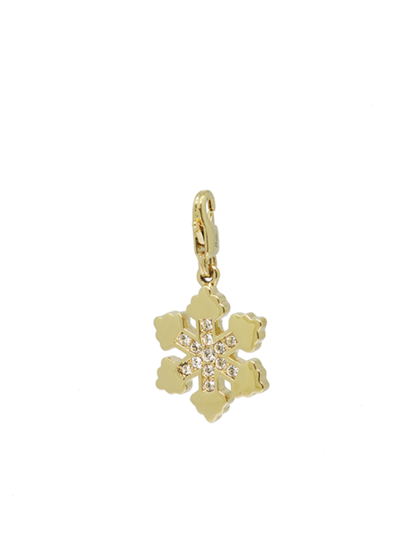 snowflake with crystal gold charm