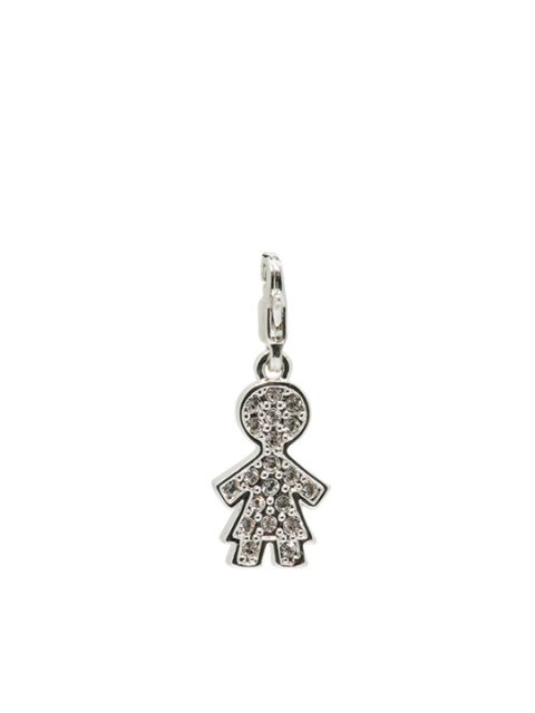 Le girl rhodium charm