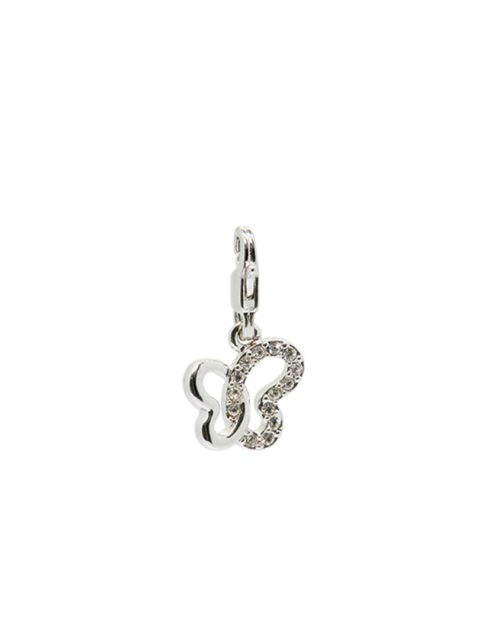 Butterfly rhodium charm