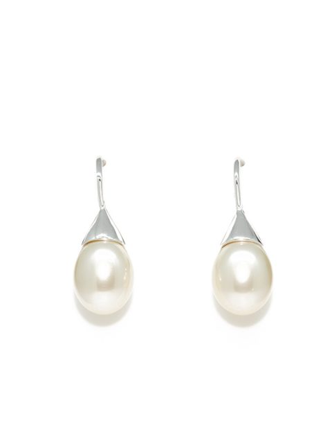 lumiere pearl rhodium earring