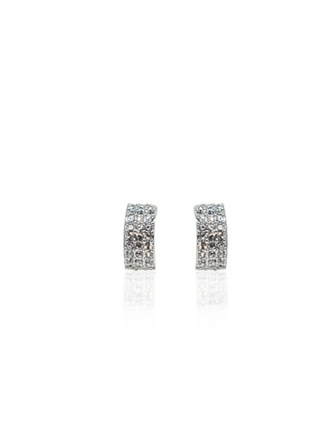 semicle rhodium earring