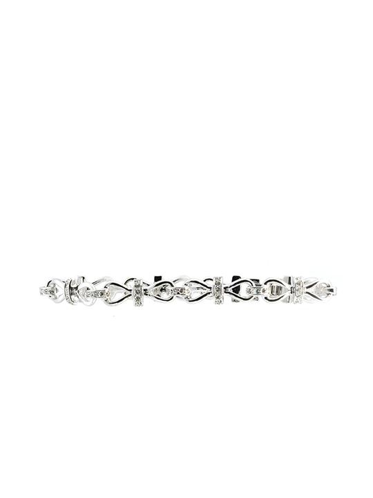 infinity bracelet rhodium