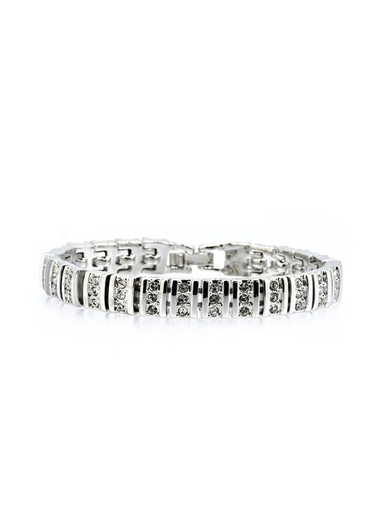 Montreal rhodium bracelet