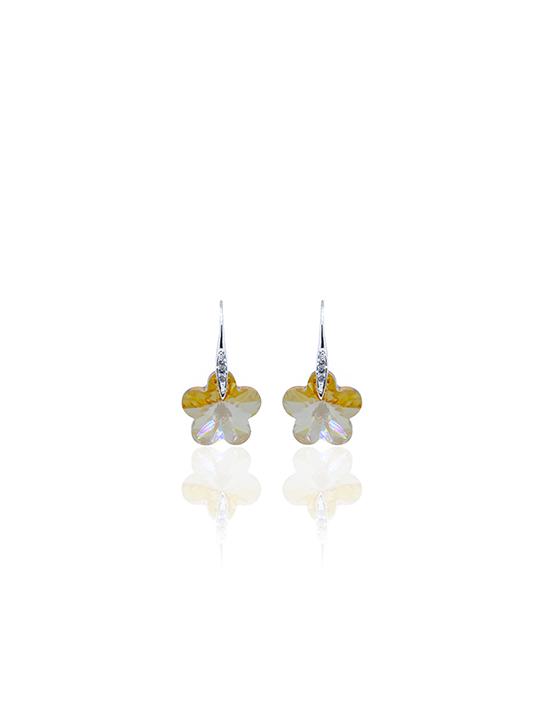 Sunkiss Flora rhodium earring