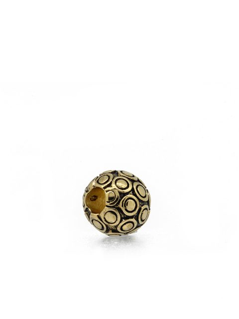 Antique grunge gold bubble ball becharmed sideview