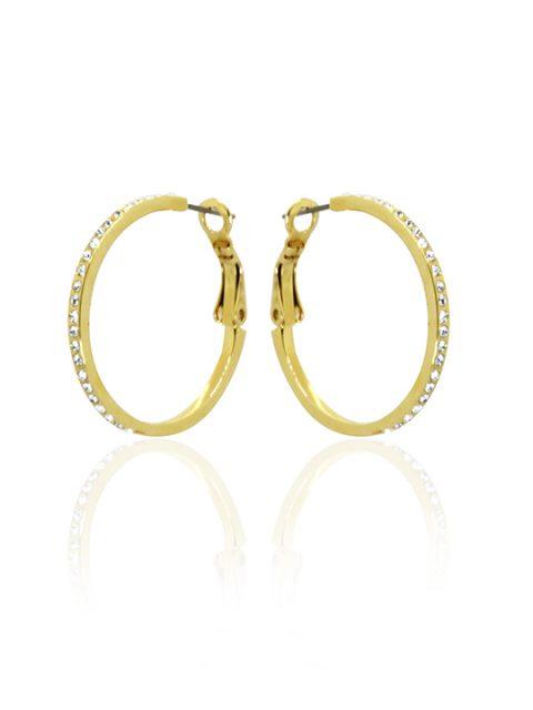 rihanna gold hoop earring