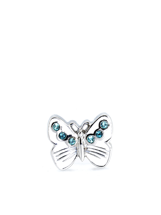 butterfly turquoise rhodium becharmed