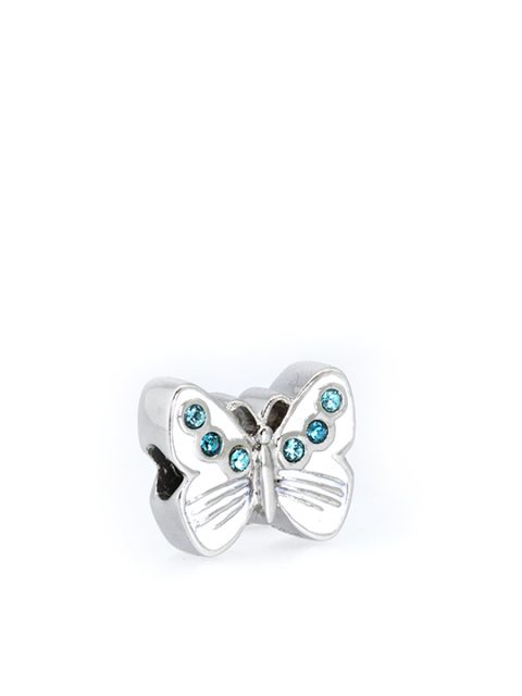 butterfly turquoise rhodium becharmed sideview