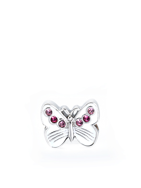 butterfly Rose rhodium becharmed