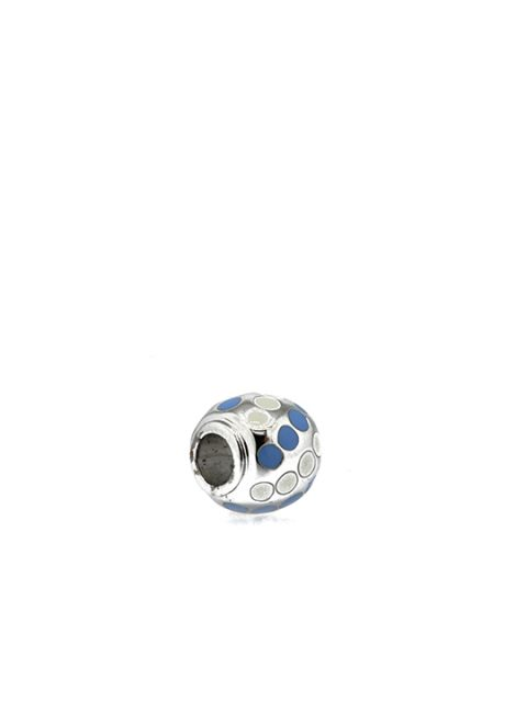 polka ball rhodium becharmed blue sideview
