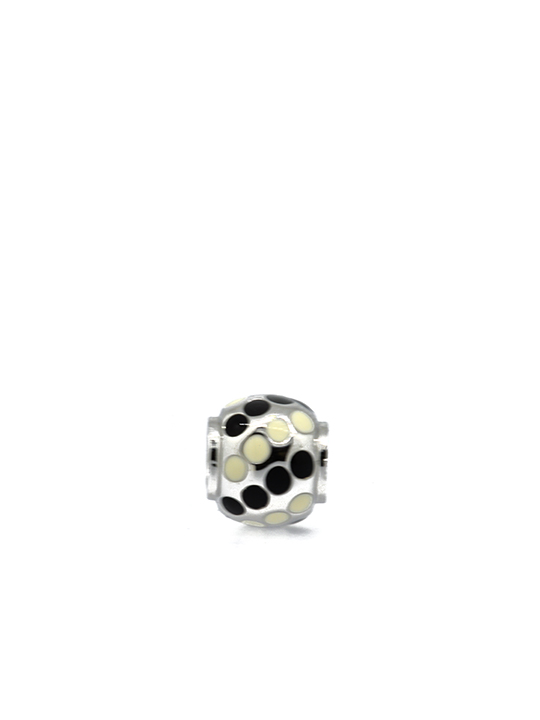 polka ball rhodium becharmed black