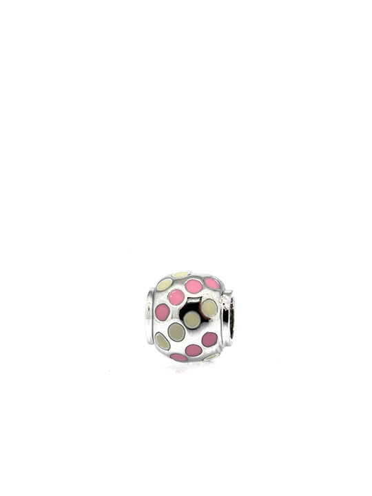 polka ball rhodium becharmed pink