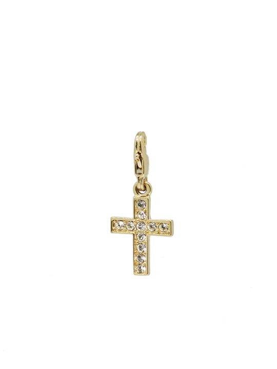 Classic cross gold charm