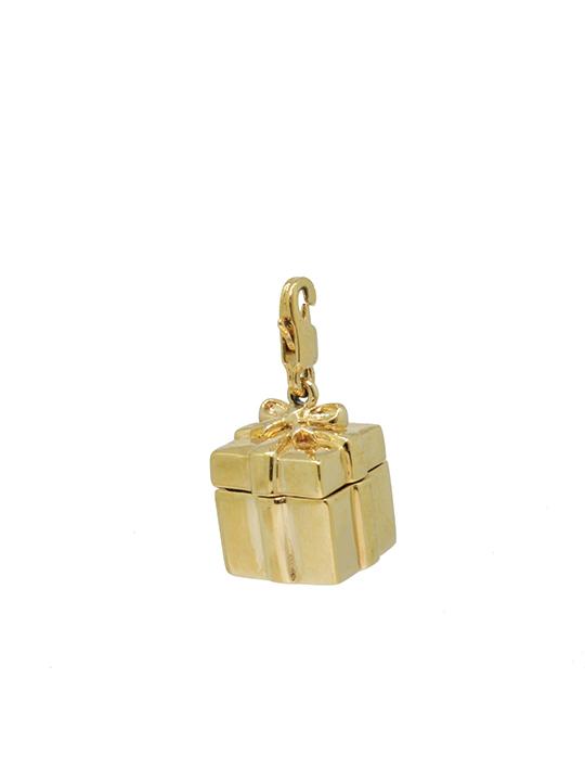 gift box gold charm