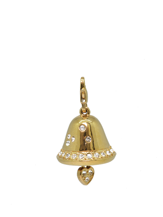 Christmas bell gold charm