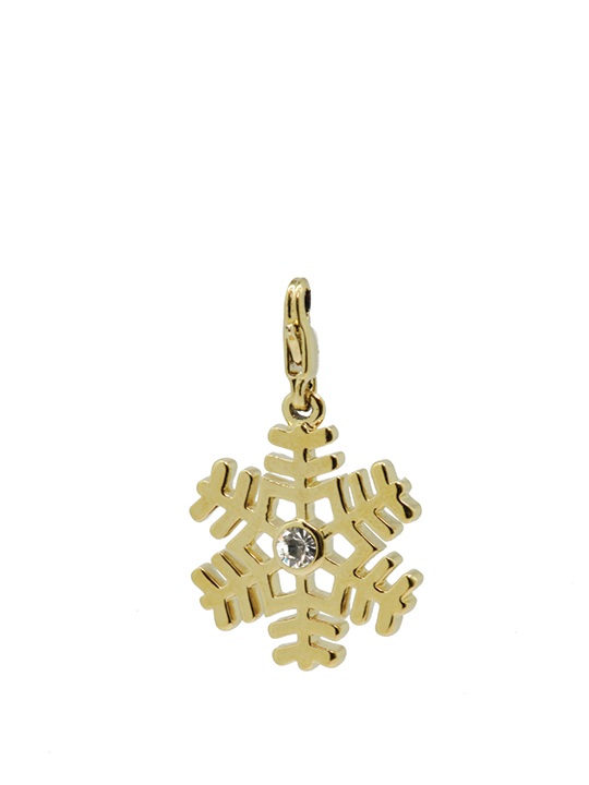 fern snowflake maxi gold charm