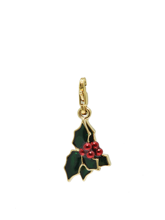 holly gold charm