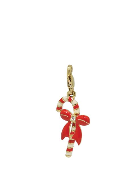 Christmas candy cane gold charm