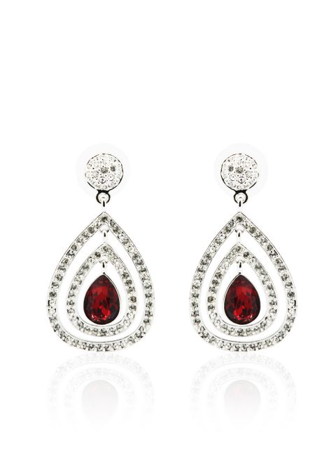 Royal Siam Rhodium Earring