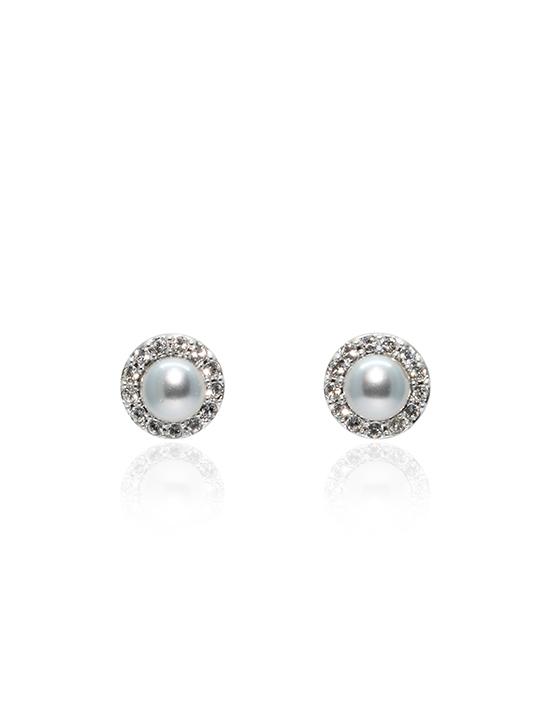lucia pearl rhodium earring