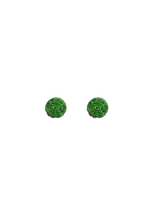 Green moss earring