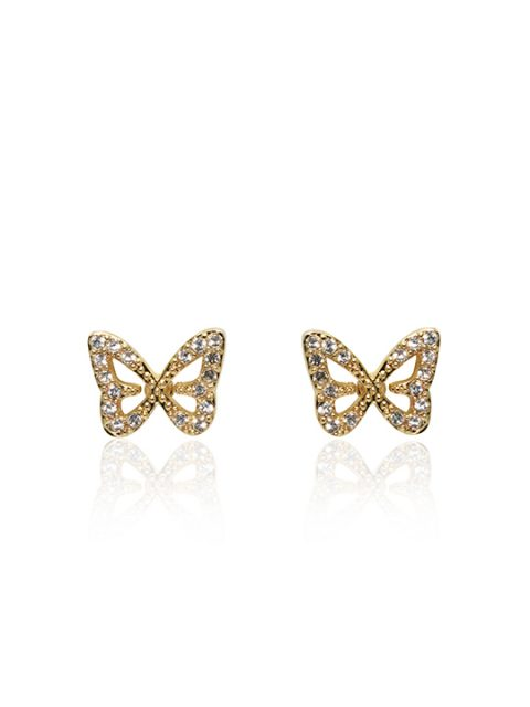 butterfly gold earring