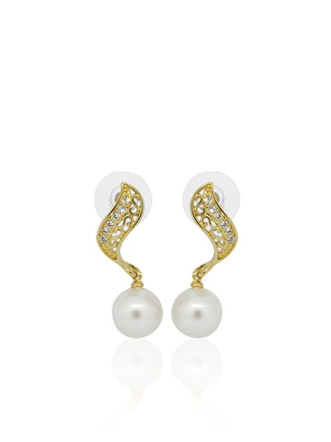 Rumba pearly gold earring