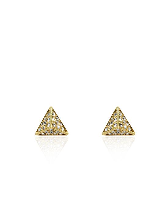 pharaoh pyramid gold earring