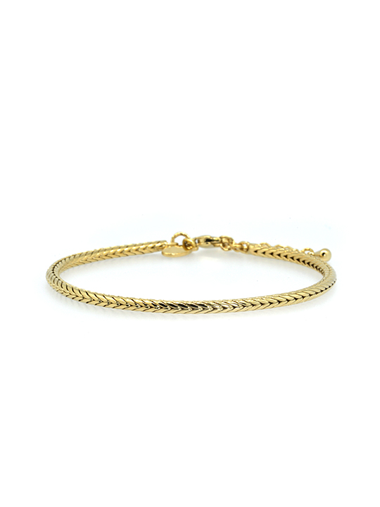 Becharmed Snakechain Gold Bracelet Small 16 5cm Paris Bijoux