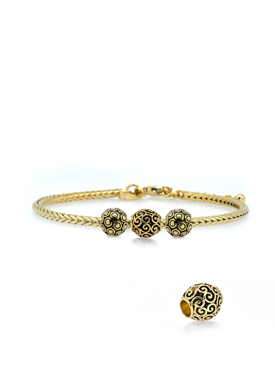 Becharmed Snakechain bracelet gold