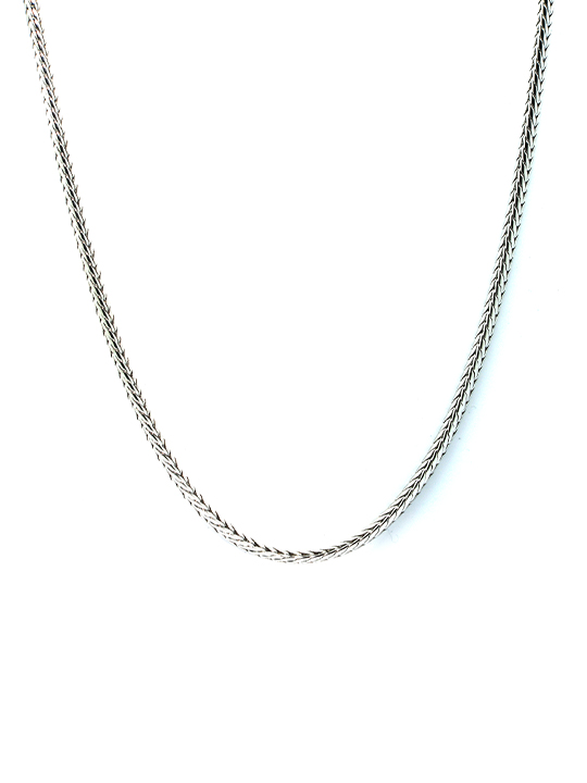 snakechain rhodium necklace