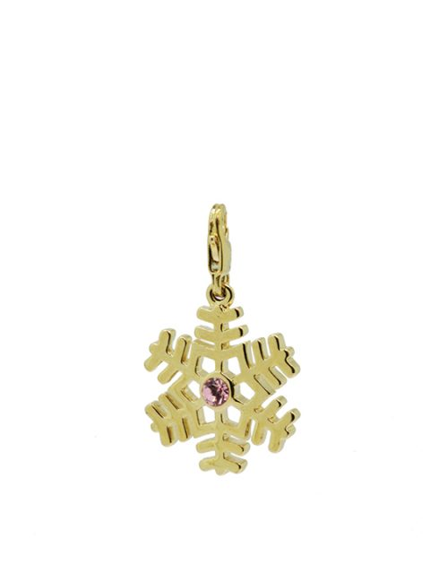 fern snowflake maxi pink gold charm