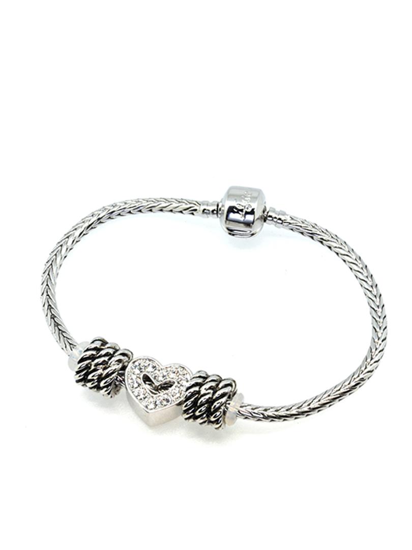 BC10072A@sparking heart bracelet